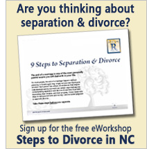 Sign up for the free eWorkshop: Steps to Divorce in NC